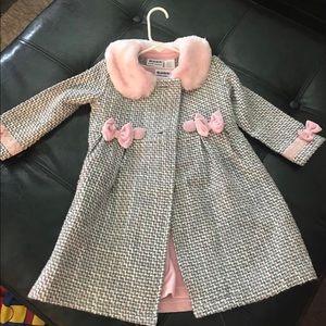 Toddler pea coat and dress 4T